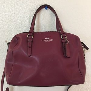 Beautiful plum coach purse